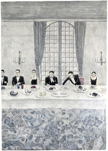 優秀賞「飽食」富山第一高等学校2年 大黒慶太